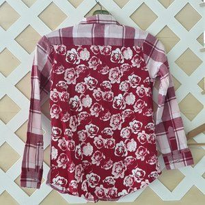 Faded Glory rose button down size M(7-8)